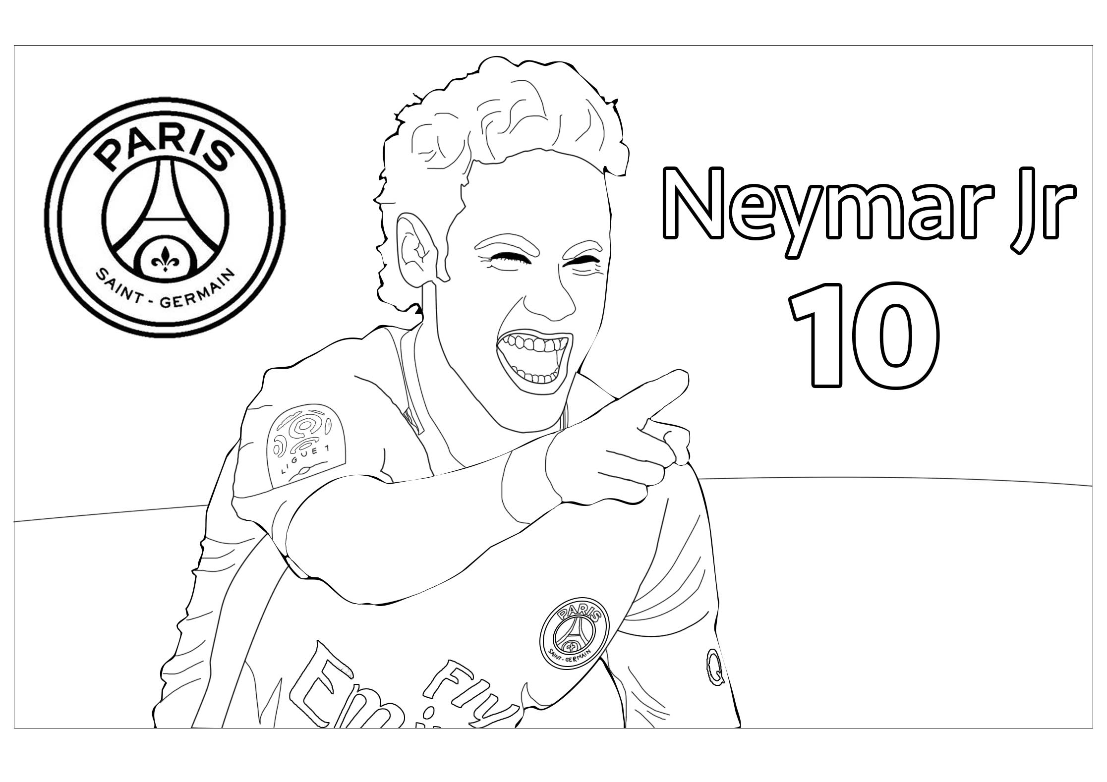 05f22 Soccer Coloring Pages Neymar
