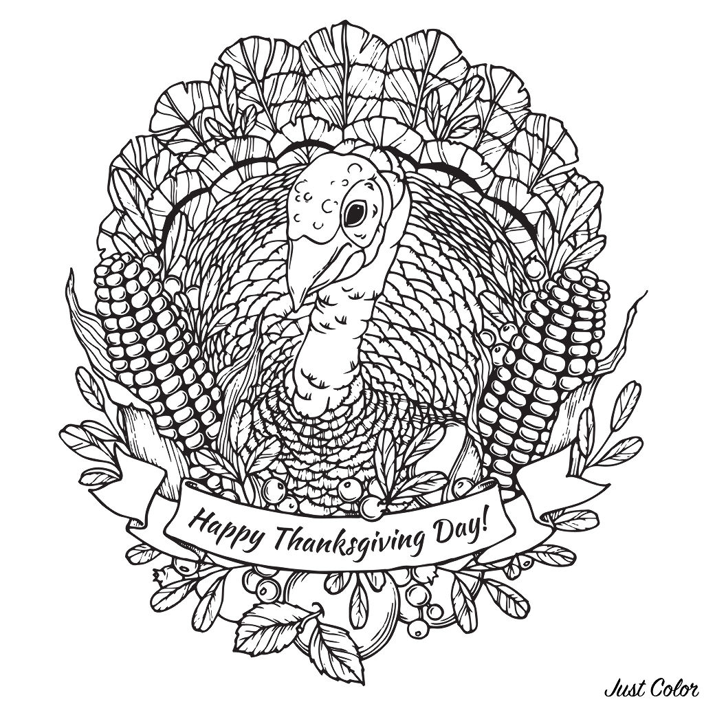 Happy Thanksgiving Turkey Mandala