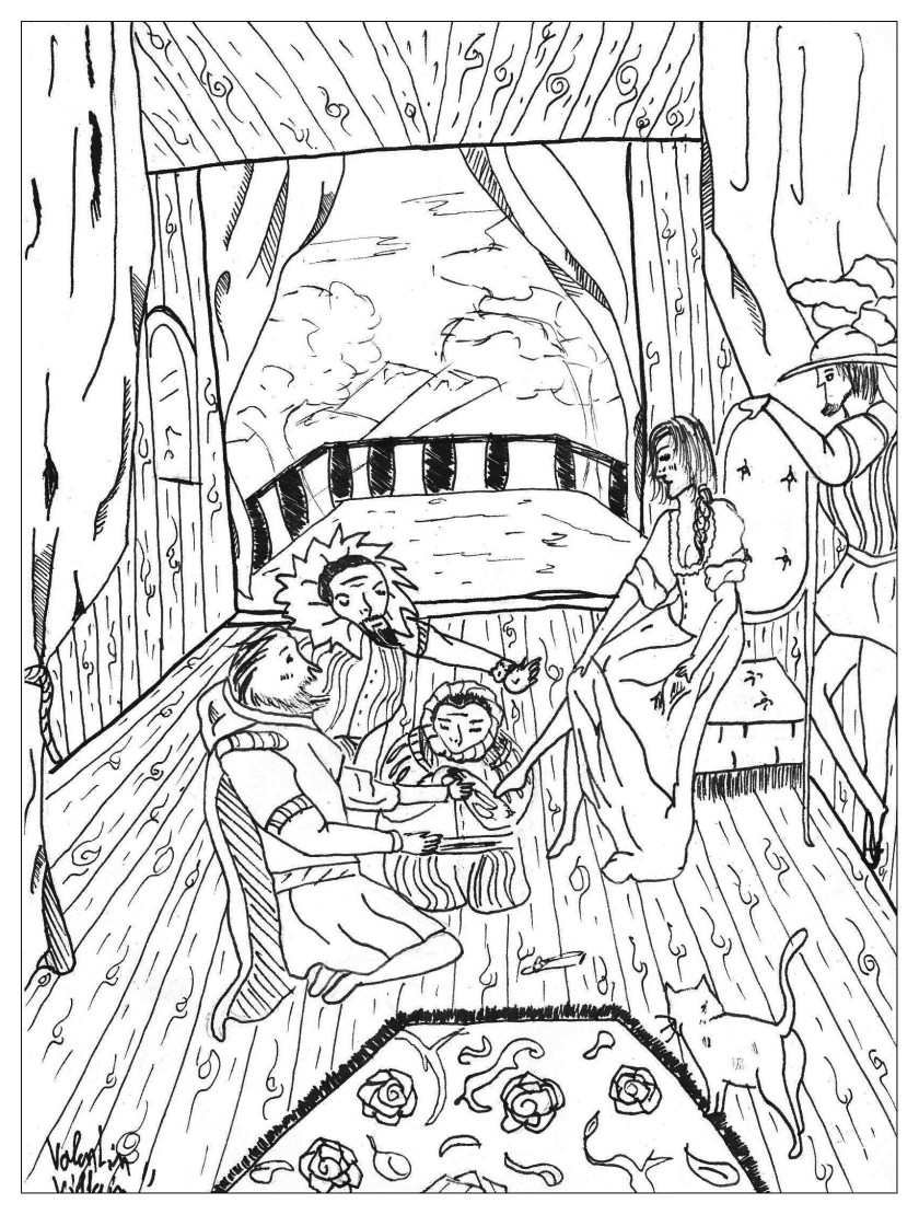 cinderella  fairy tales adult coloring pages
