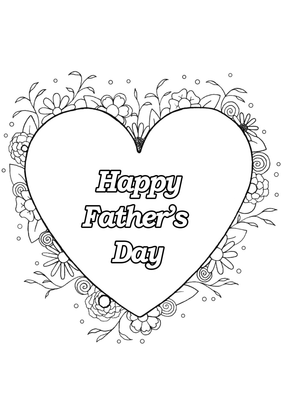 Father s day 4 - Father's Day Adult Coloring Pages