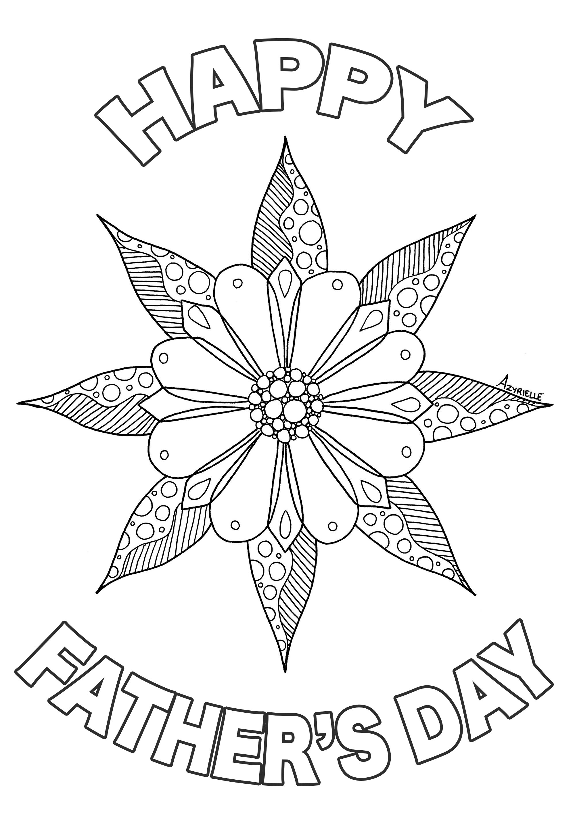 Father S Day Flower Father S Day Adult Coloring Pages