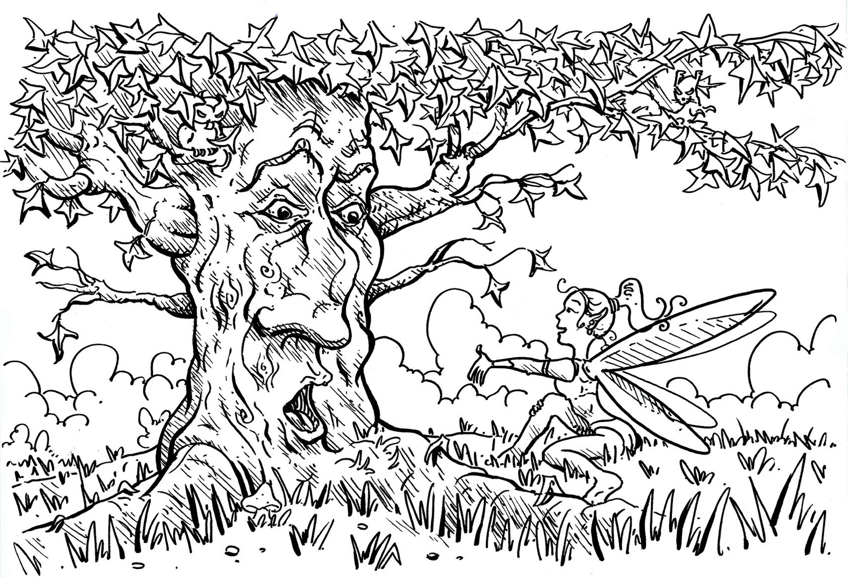 The Tree That Speaks With The Fairy Flowers Adult