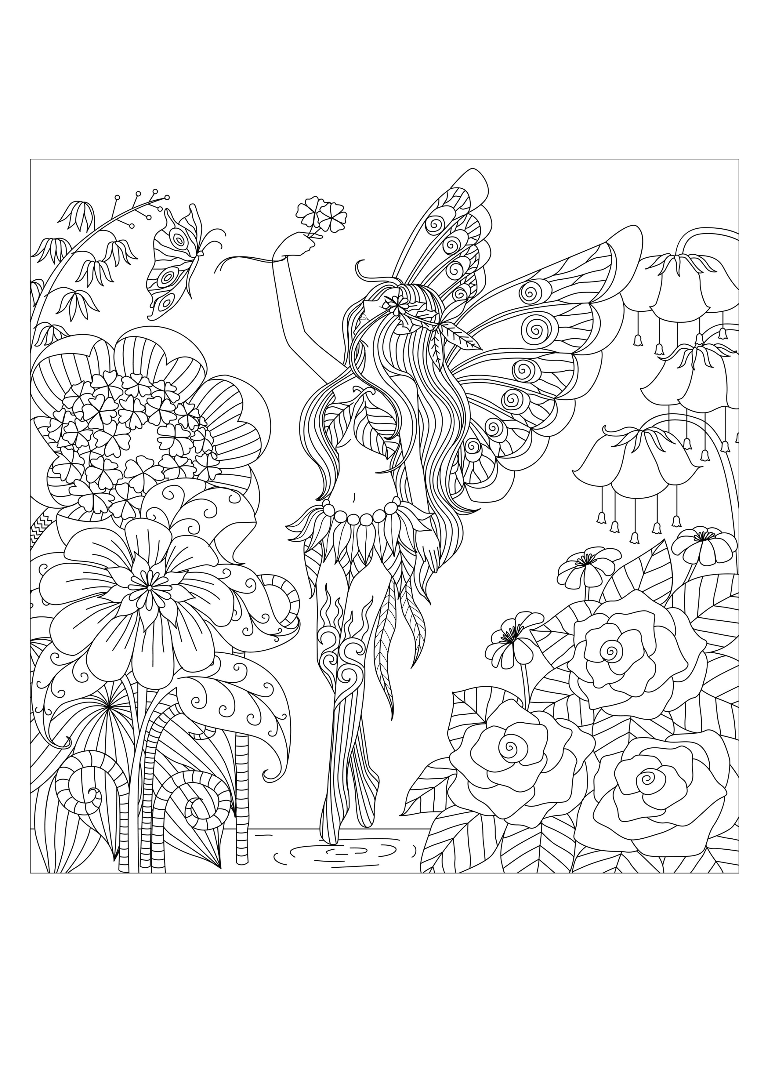 Pages Flowers Queen By Bimdeedee Flowers Vegetation Coloring