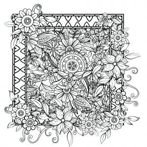 coloring pages flower # 13