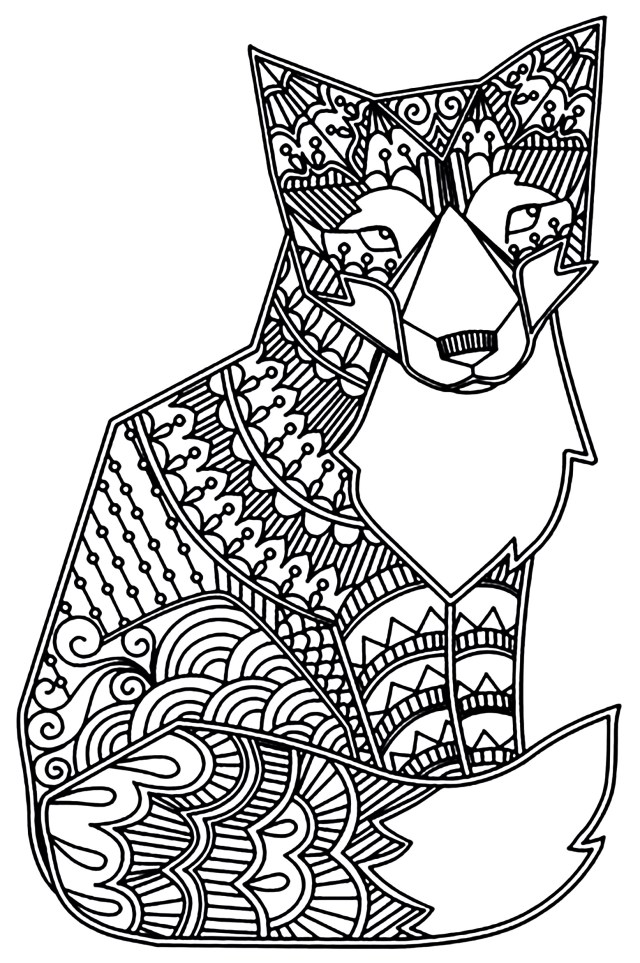 Fox - Foxes Adult Coloring Pages