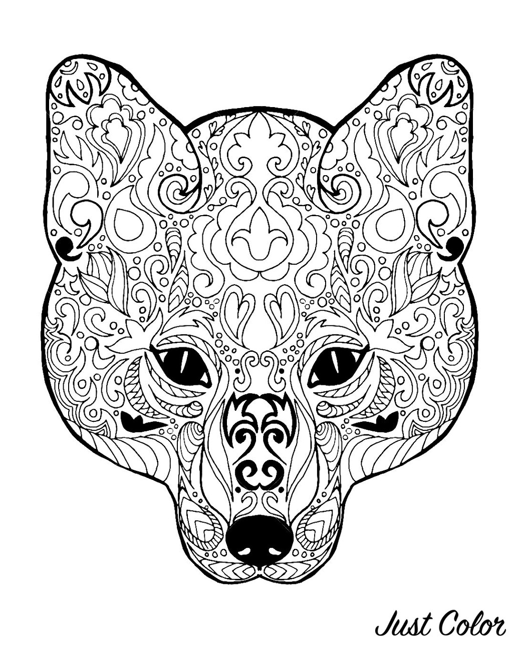 Fox Head With Patterns