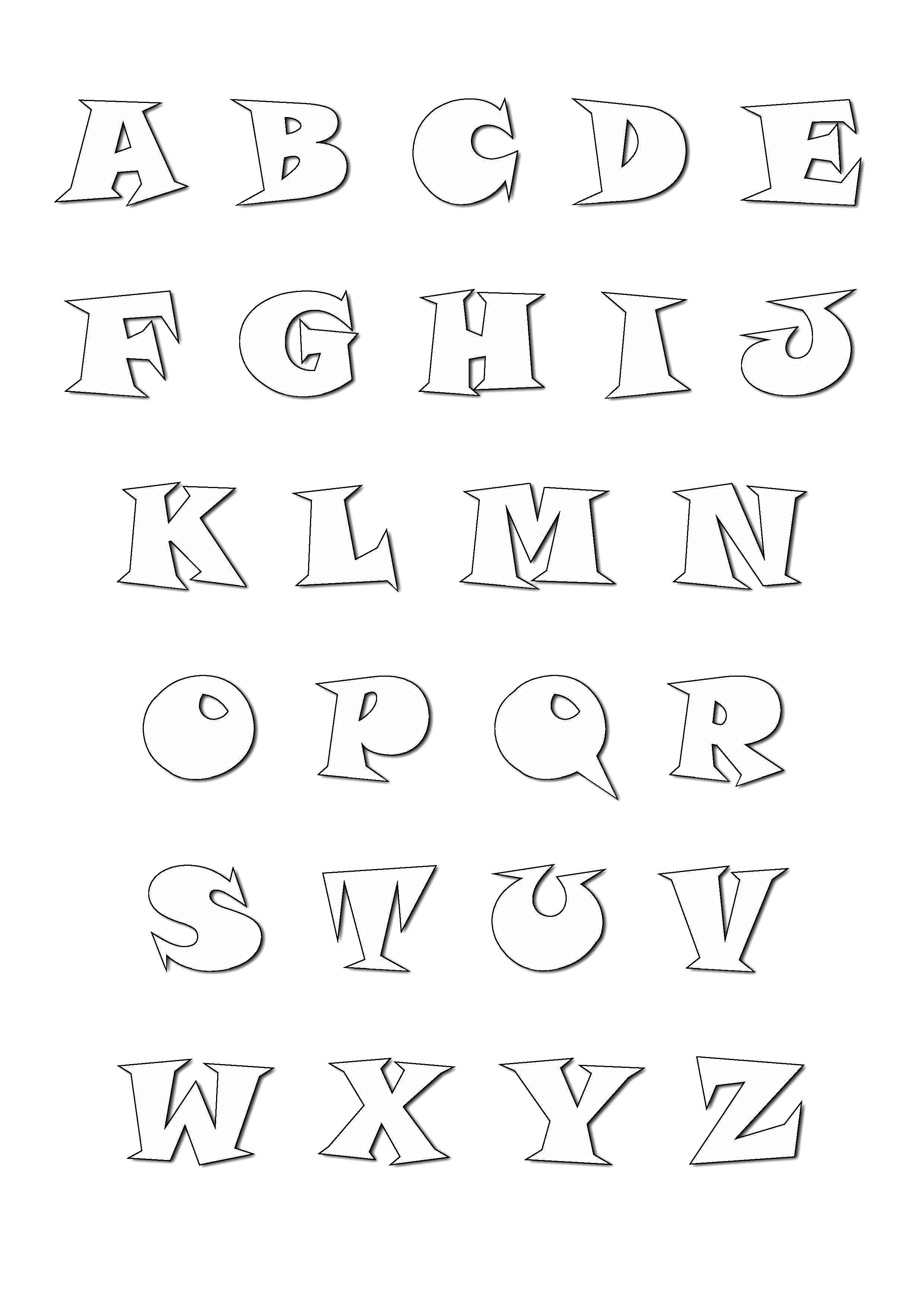 Alphabet Cartoon Style