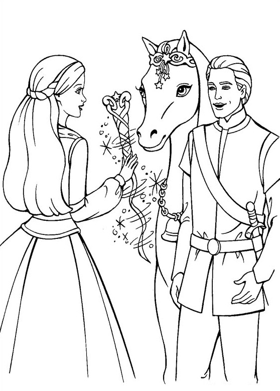 Barbie Horse Animals Adult Coloring Pages