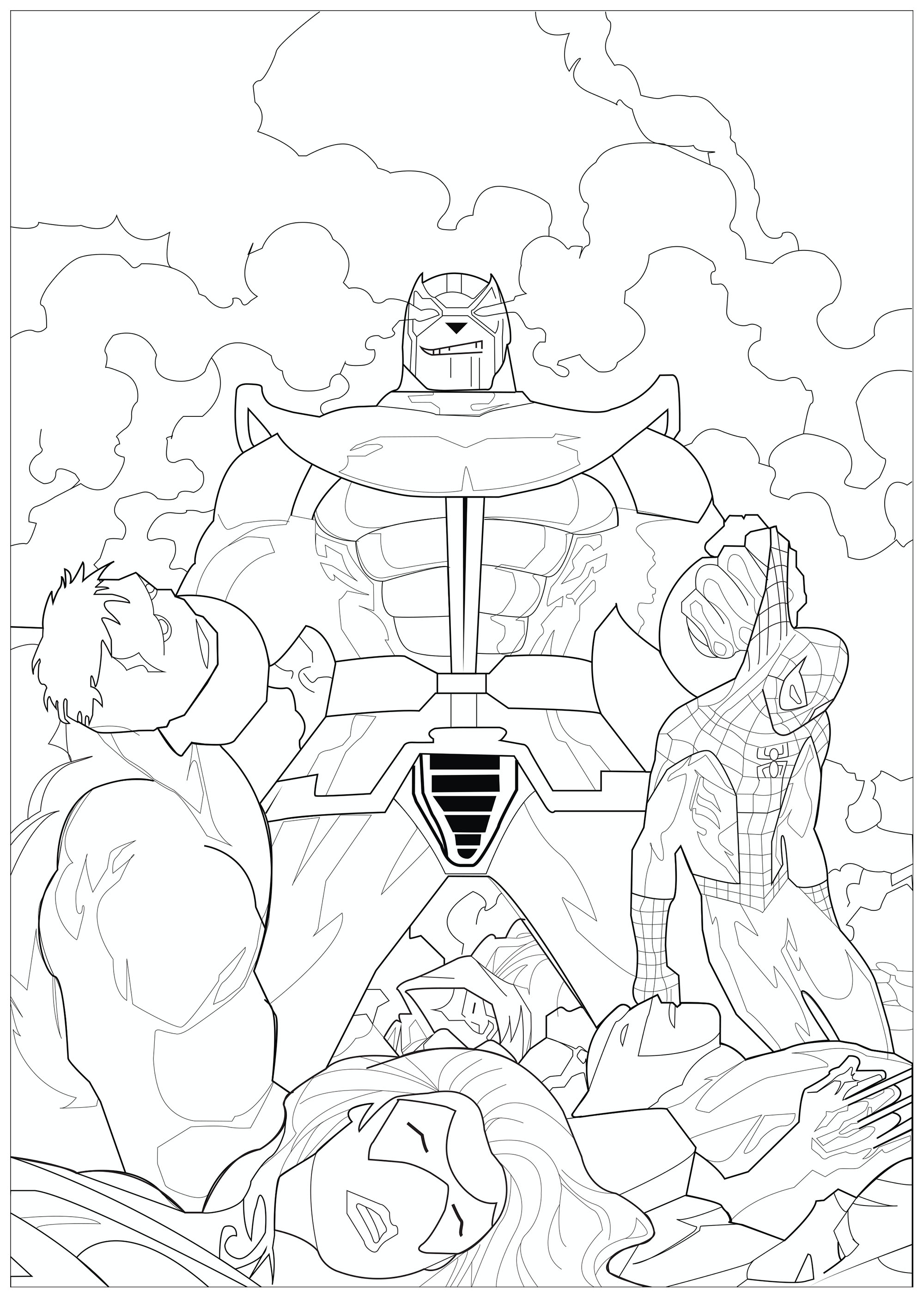 Free Coloring Pages Download Books And Ics For Adults Of Marvel Comics