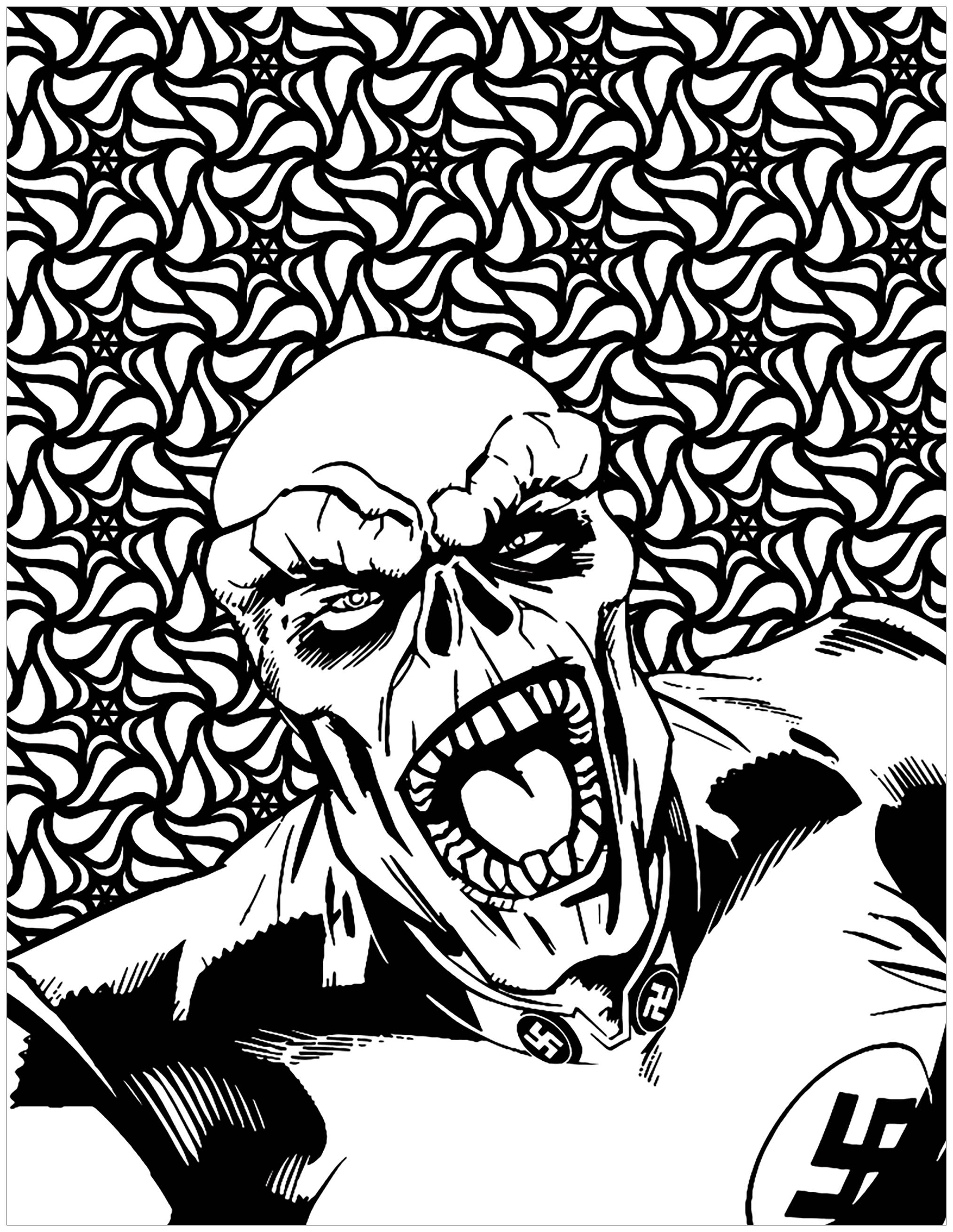 Marvel Villains Red Skull Books Adult Coloring Pages