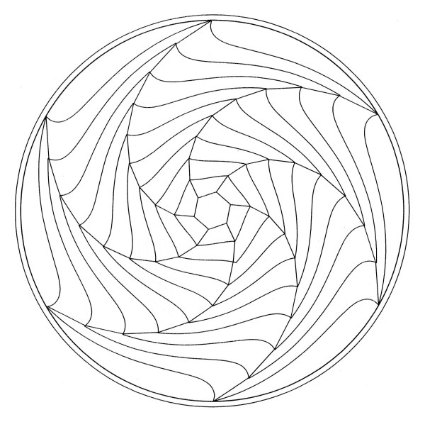 optical illusions coloring pages # 44