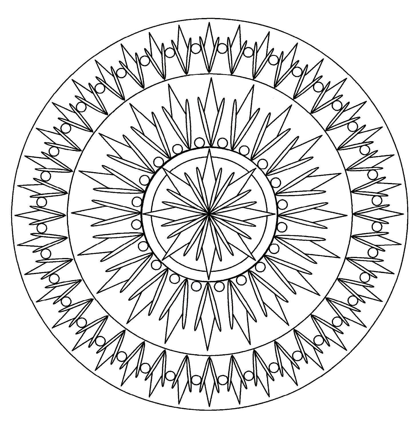 Simple Mandala 2 Mampalas Adult Coloring Pages