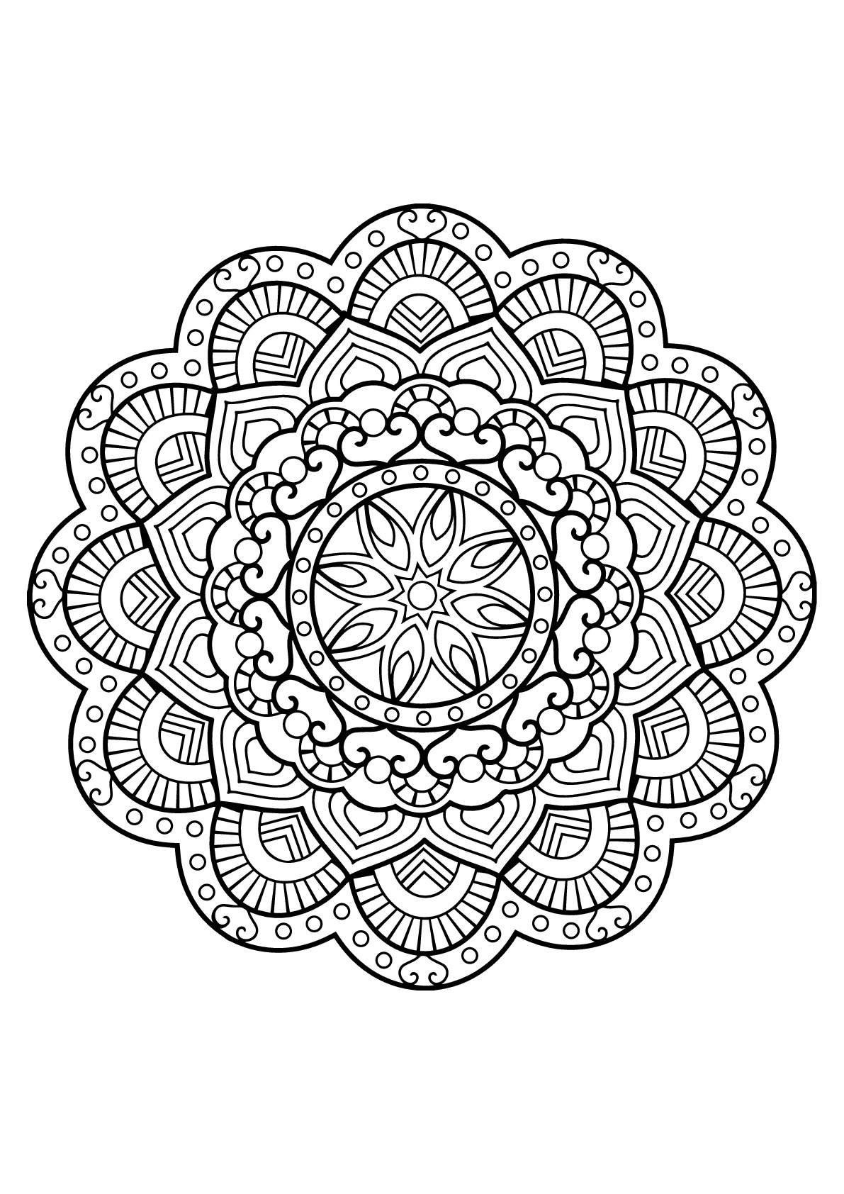 Mandala From Free Coloring Books For Adults 26