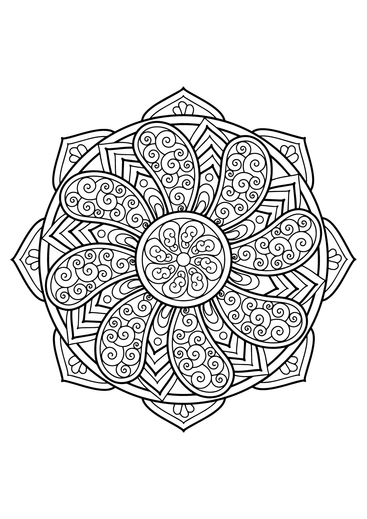 Mandala from free coloring books for adults 27 - M&alas ...   coloring books for adults mandala
