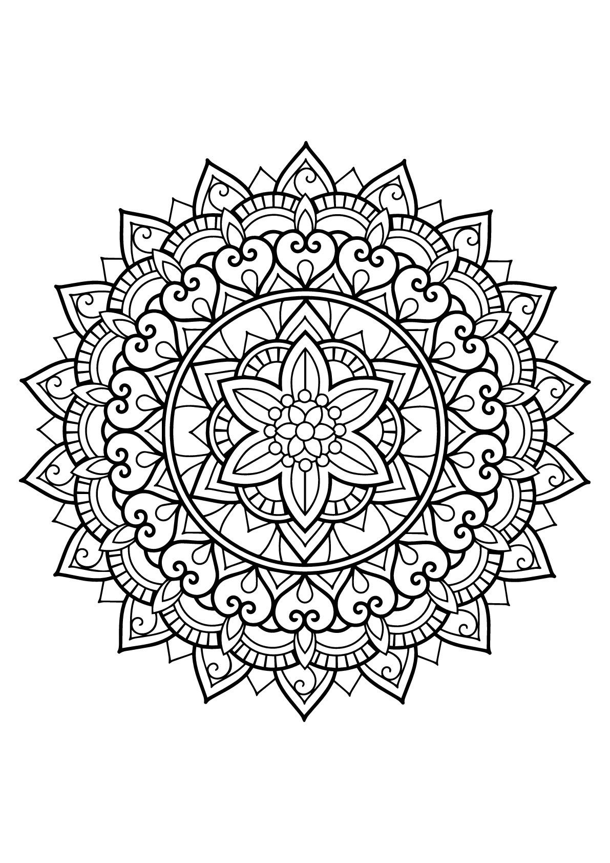 Mandala from free coloring books for adults 29 - M&alas ...   coloring books for adults mandala