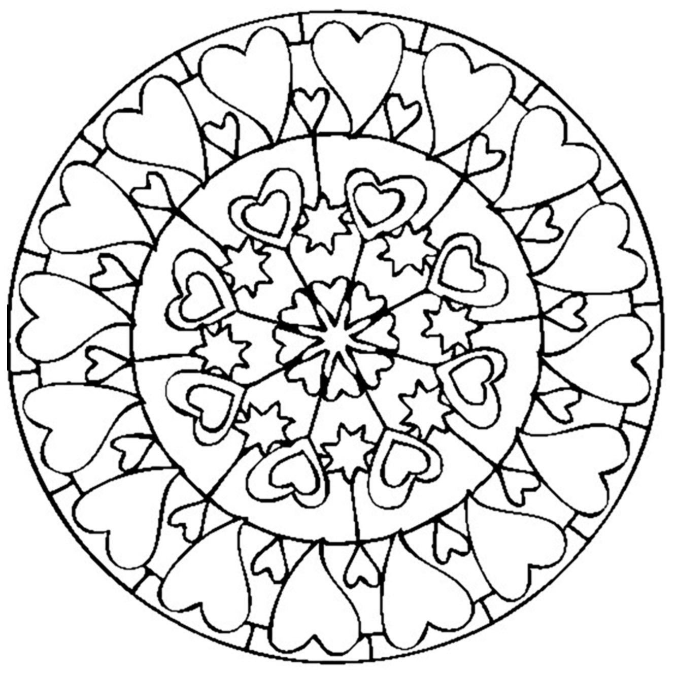 Mandala Valentines Day Love