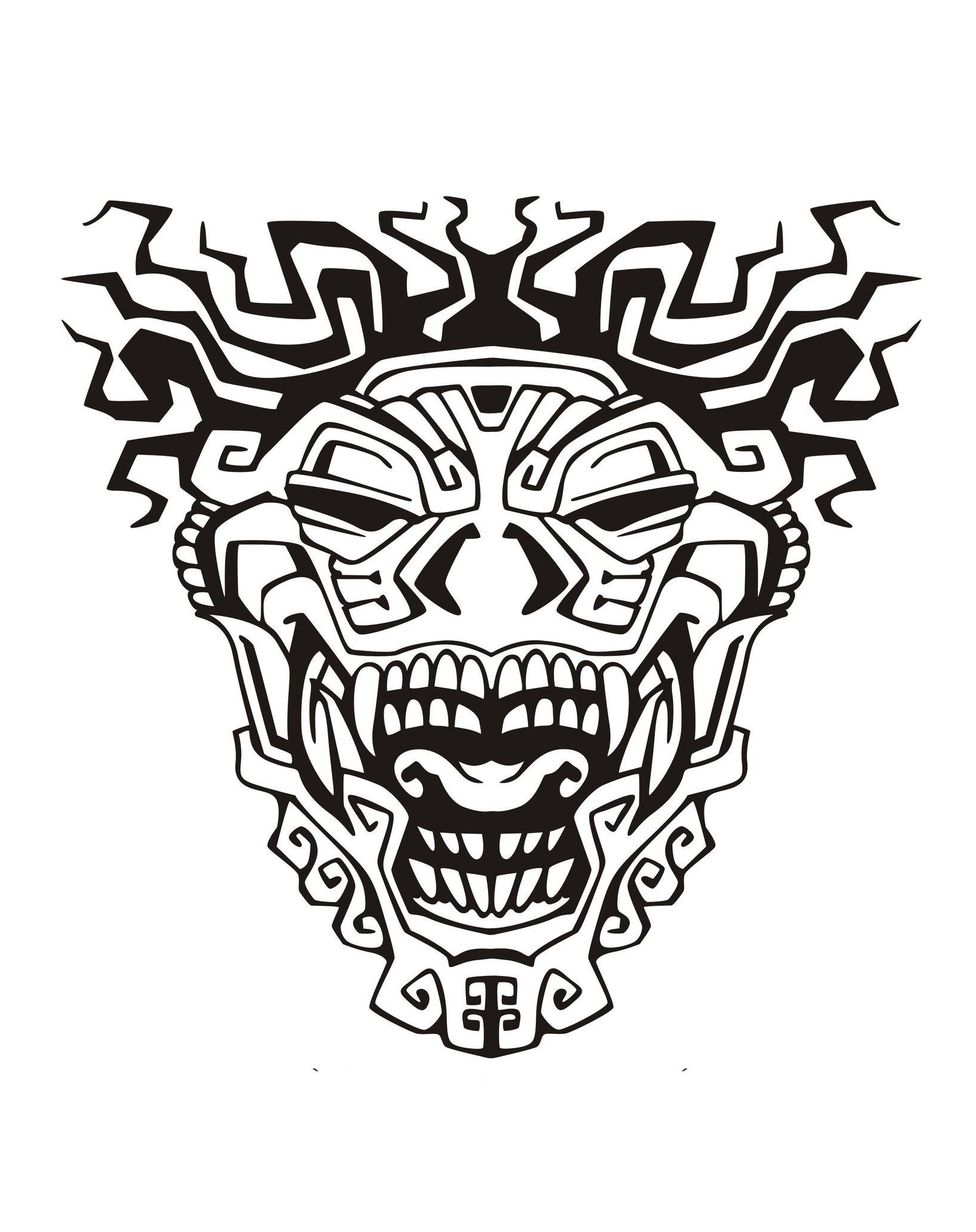 Mask Inspiration Inca Mayan Aztec 3