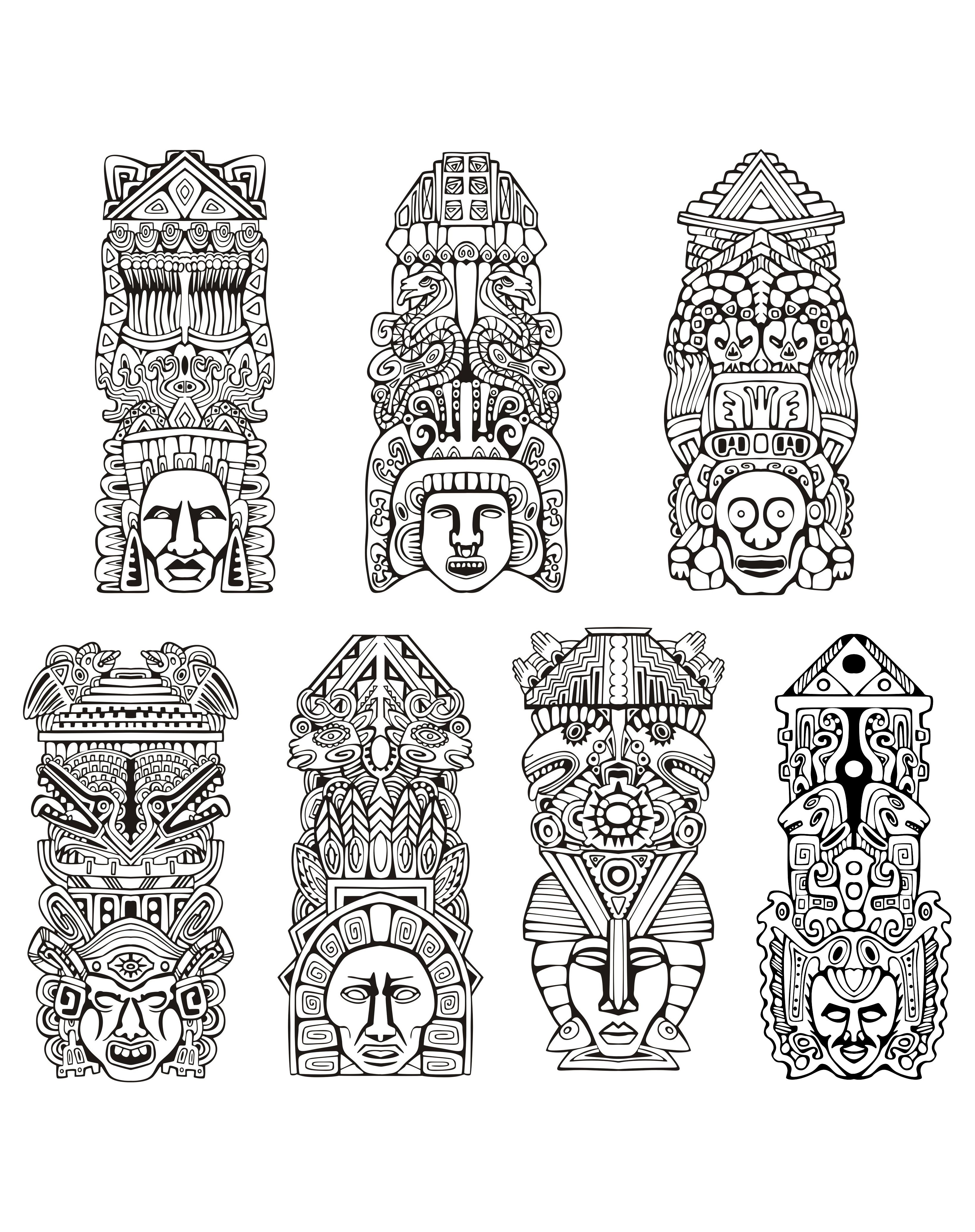 Totems Inspiration Inca Mayan Aztec