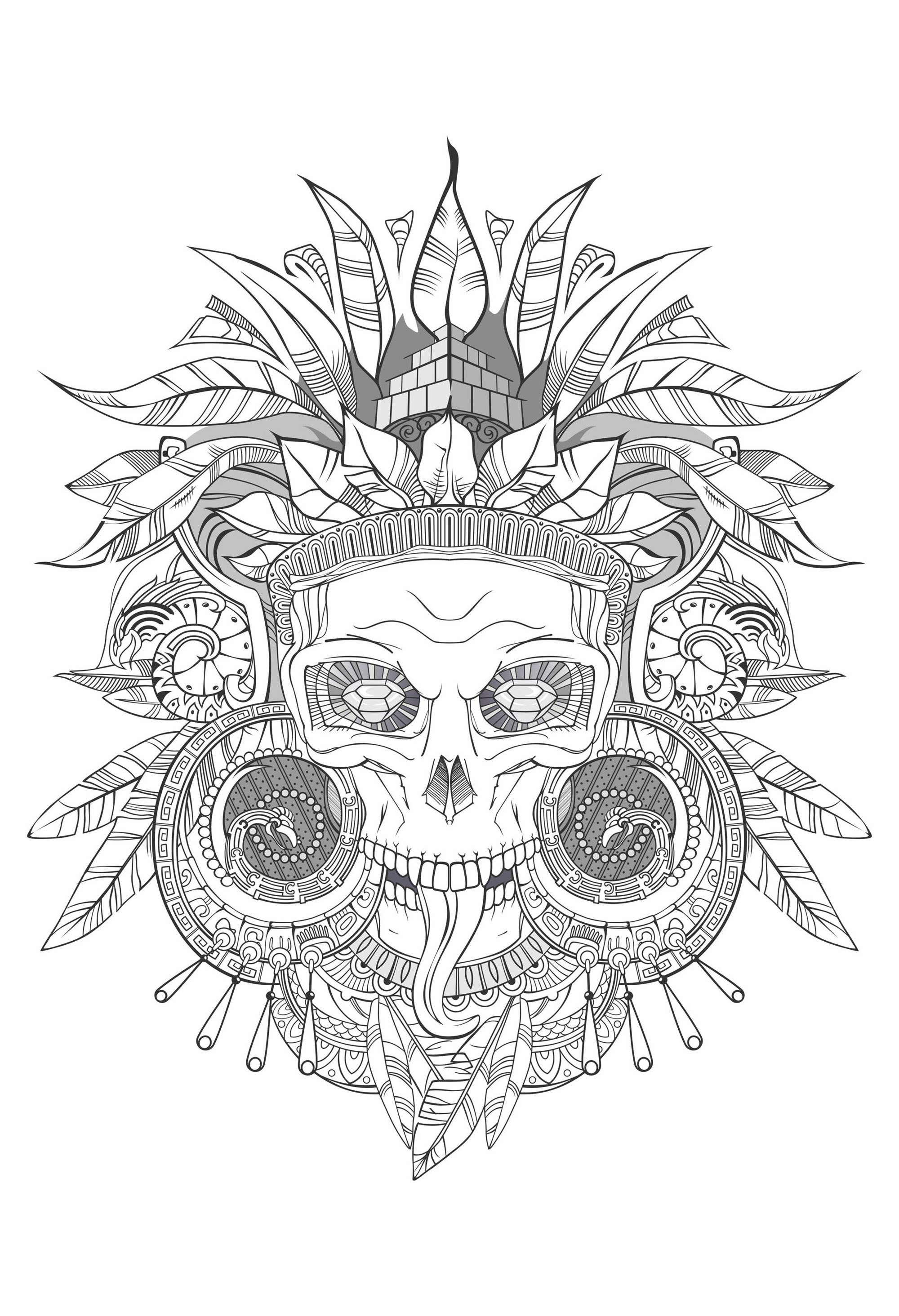 Death Coloring Pages For Adults