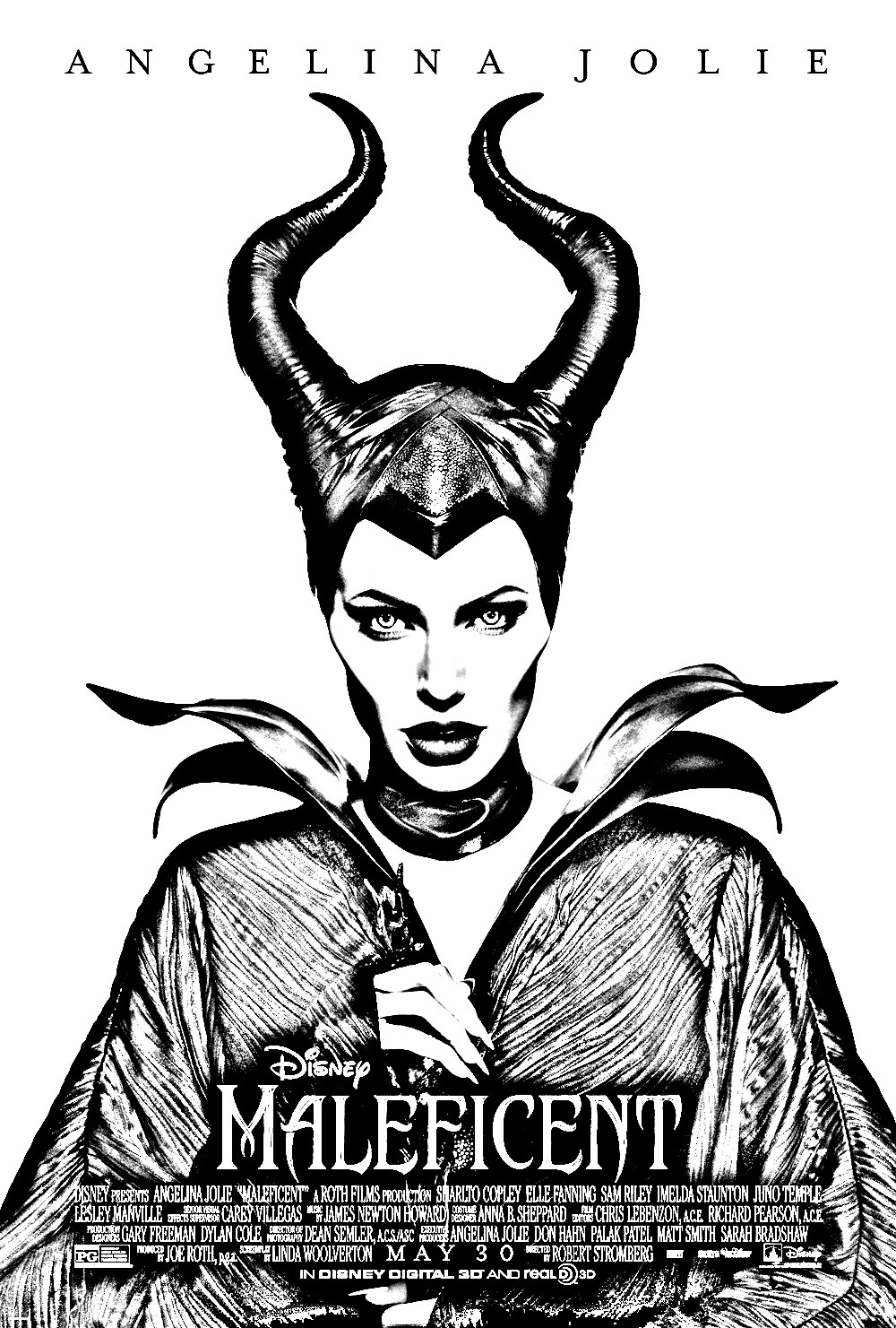 Maleficent Disney Angelina Jolie Movies Adult Coloring Pages