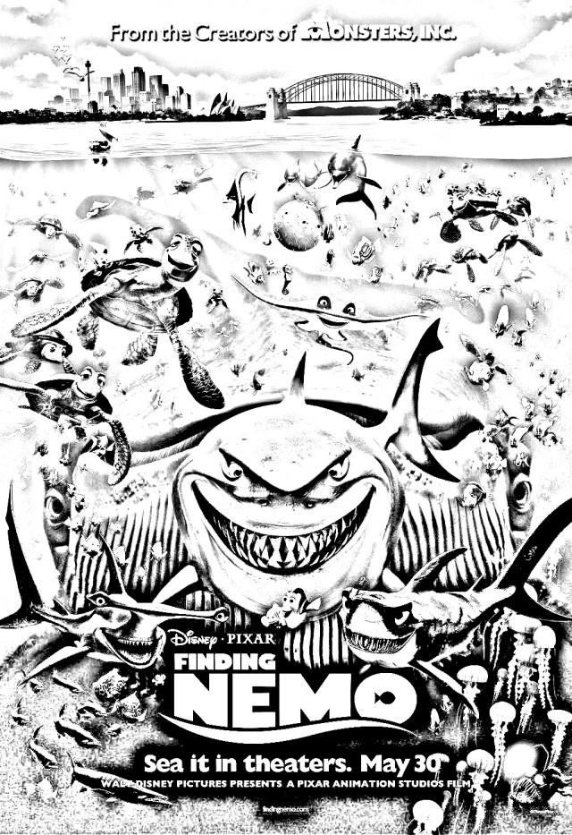Movie nemo disney pixar - Movies Adult Coloring Pages