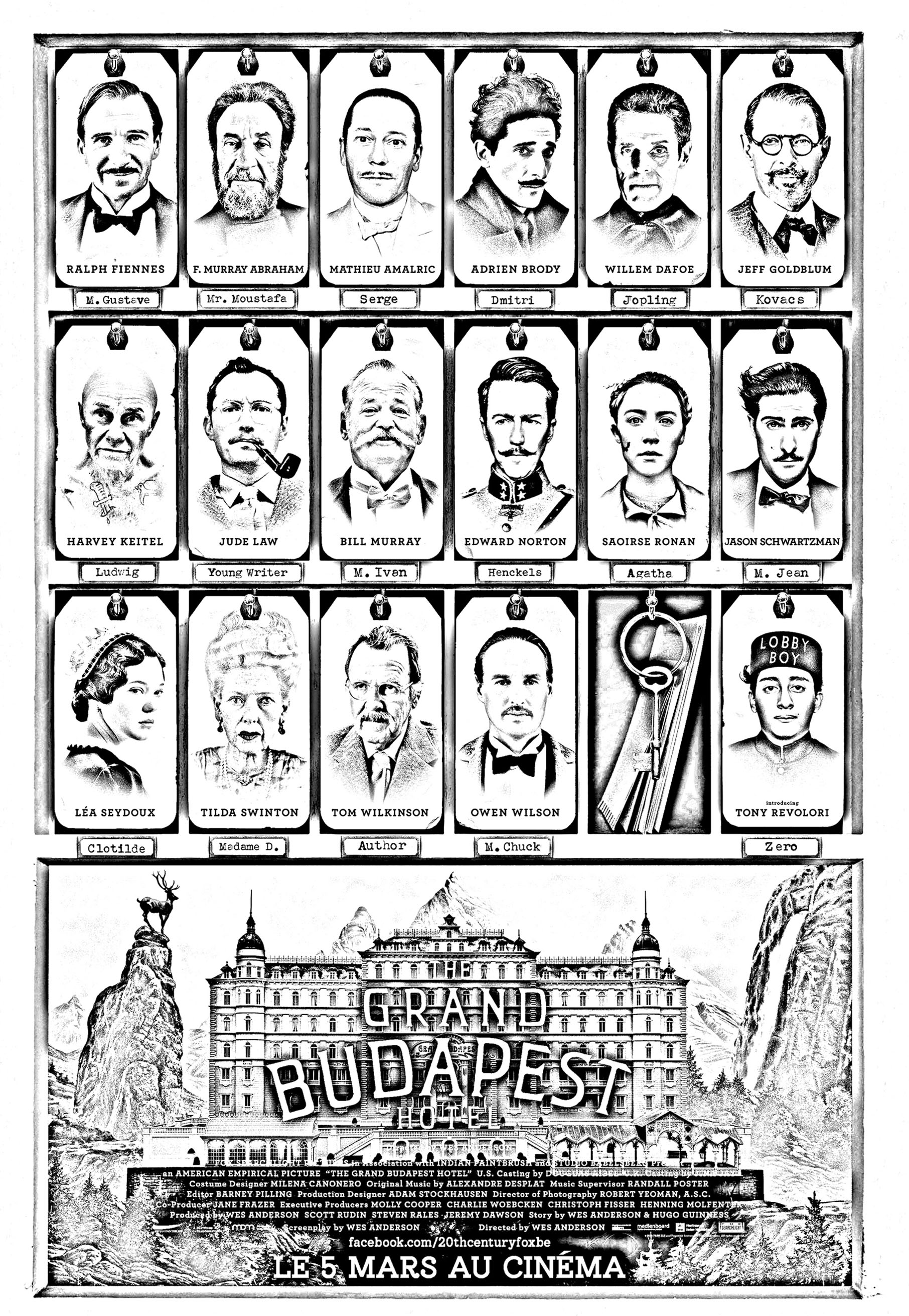 Movie The Grand Budapest Hotel Movies Adult Coloring Pages