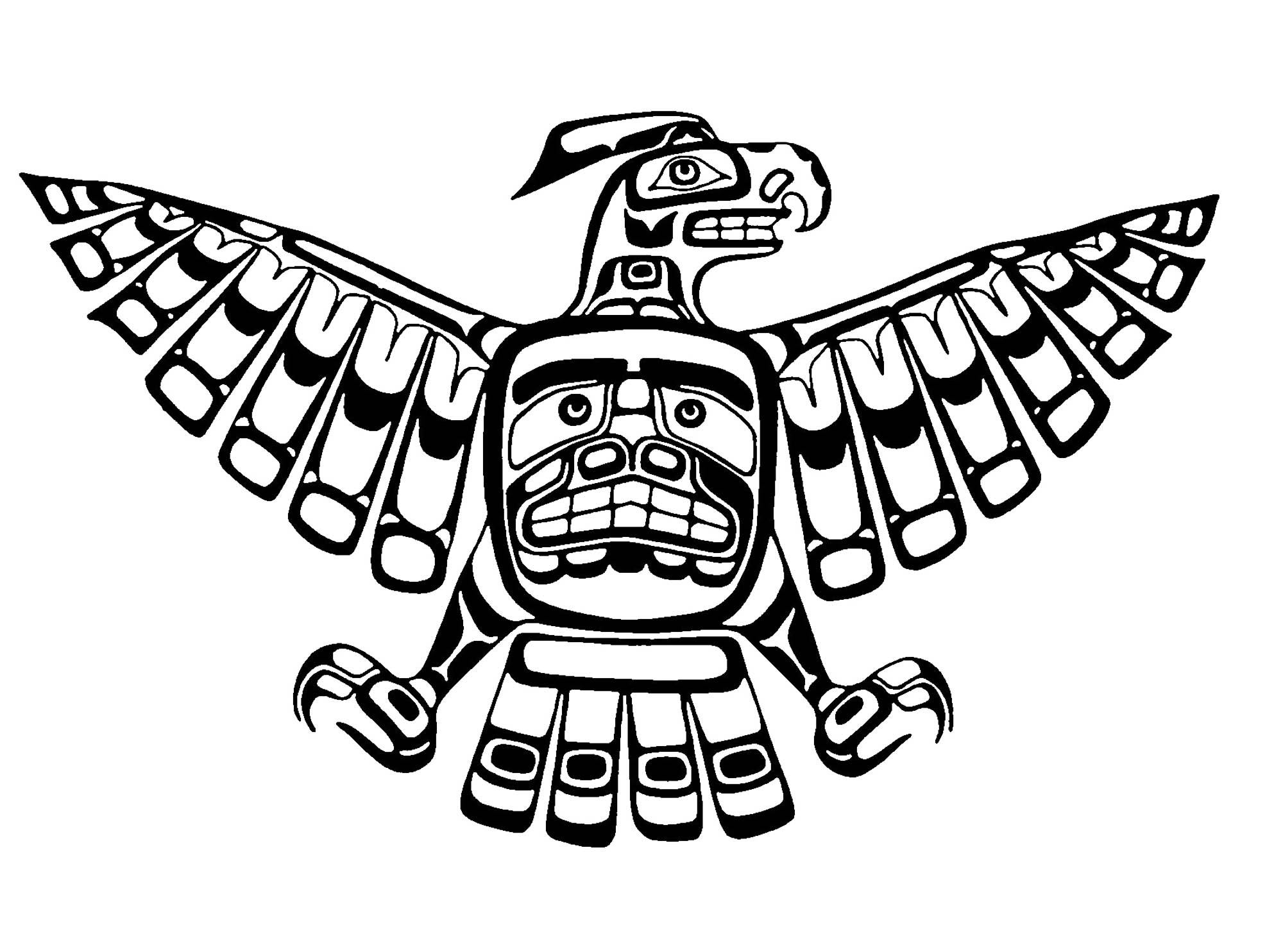 Art Northwest Coastal People Thunderbird Kwakiutl