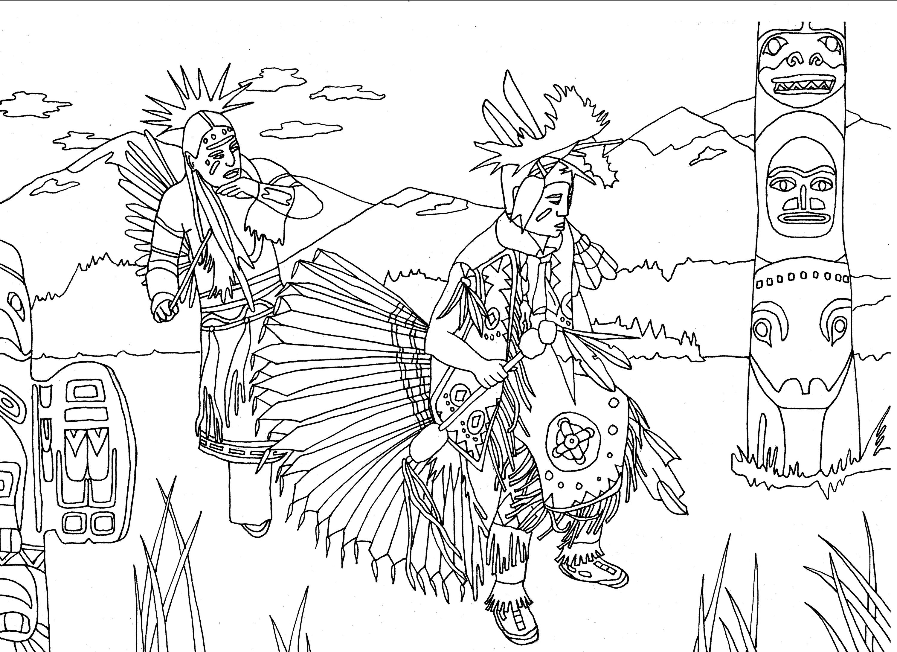 North American Indian Coloring Pages