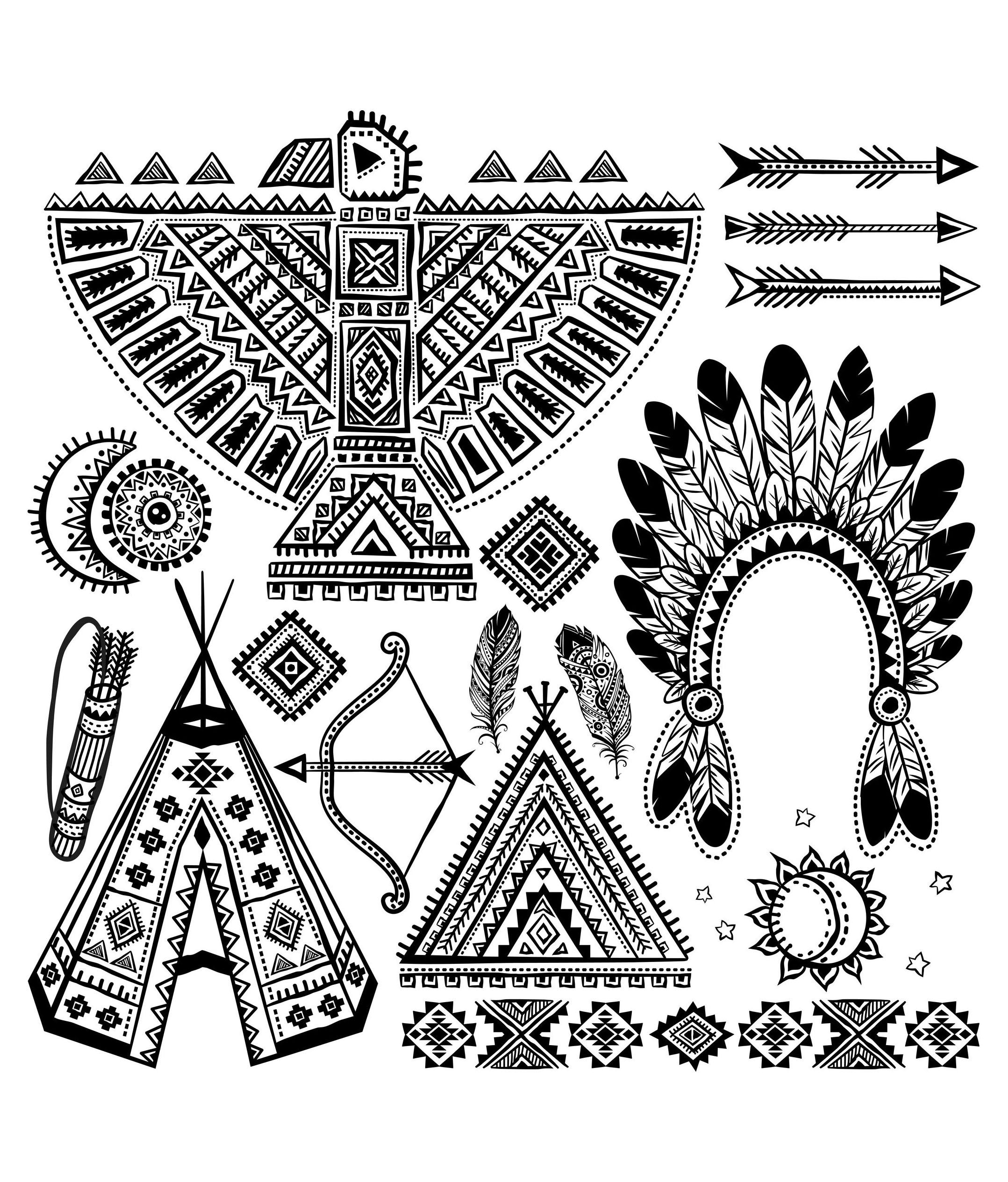 Native American Various Symbols