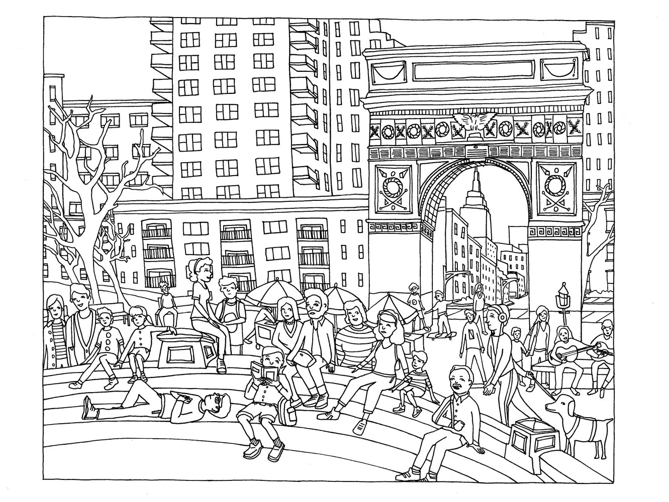 New York Coloring Pages For Adults Justcolor