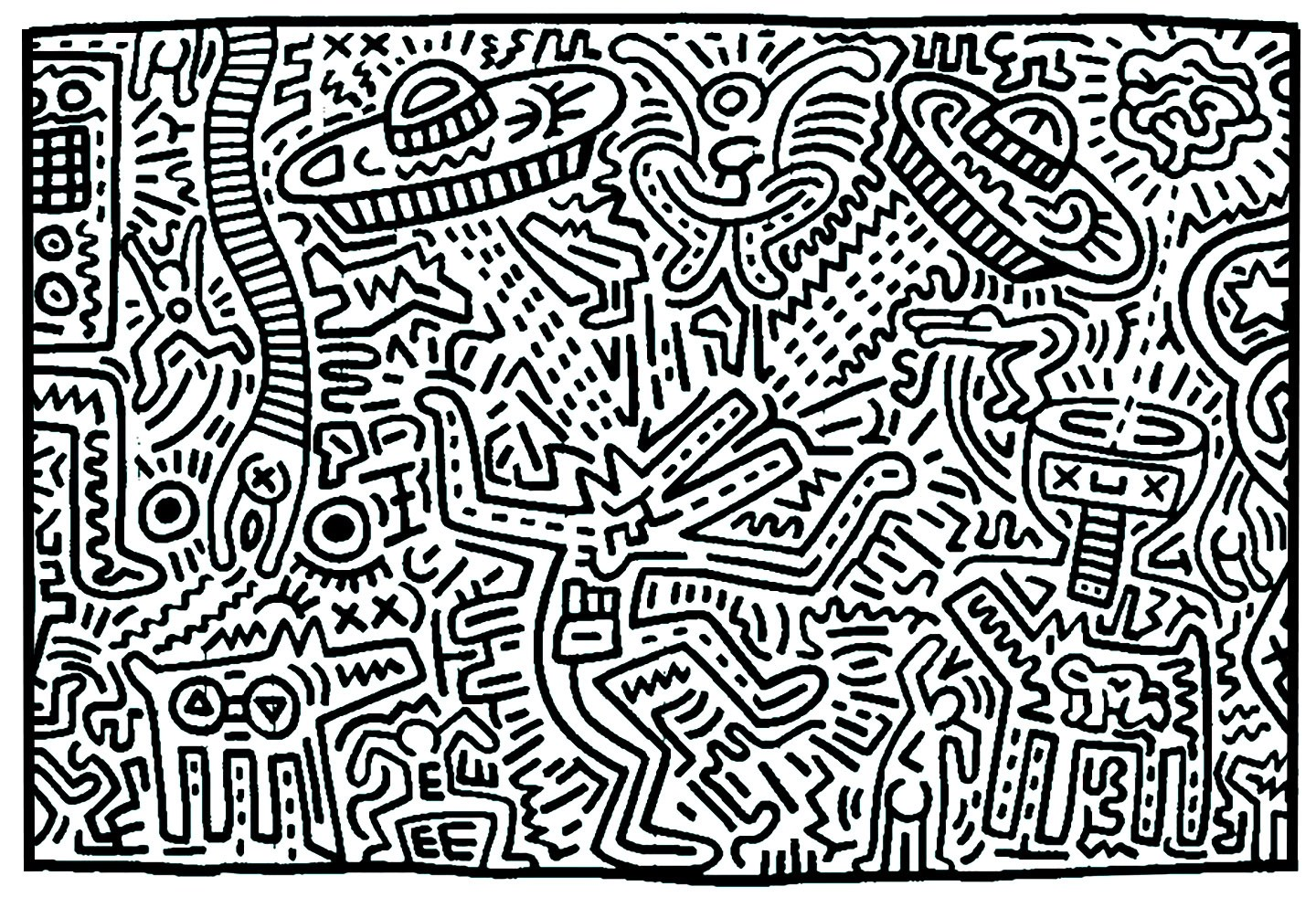 Keith Haring 8 Pop Art Adult Coloring Pages