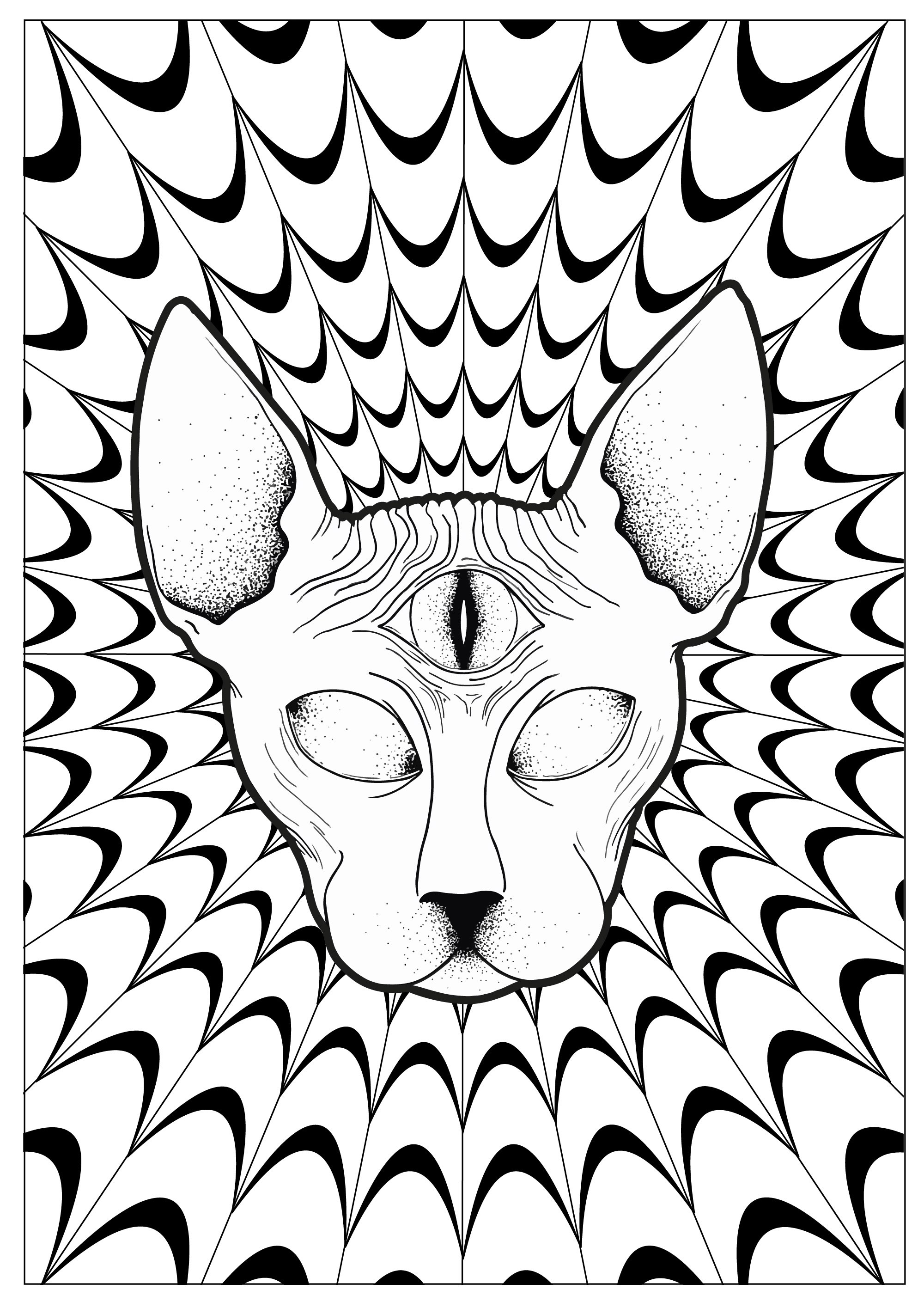 Cat Psychedelic Sphynx