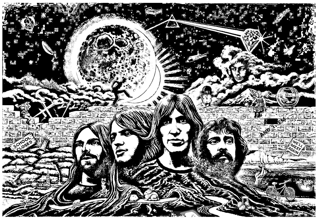 Pink Floyd Psychedelism Psychedelic Adult Coloring Pages