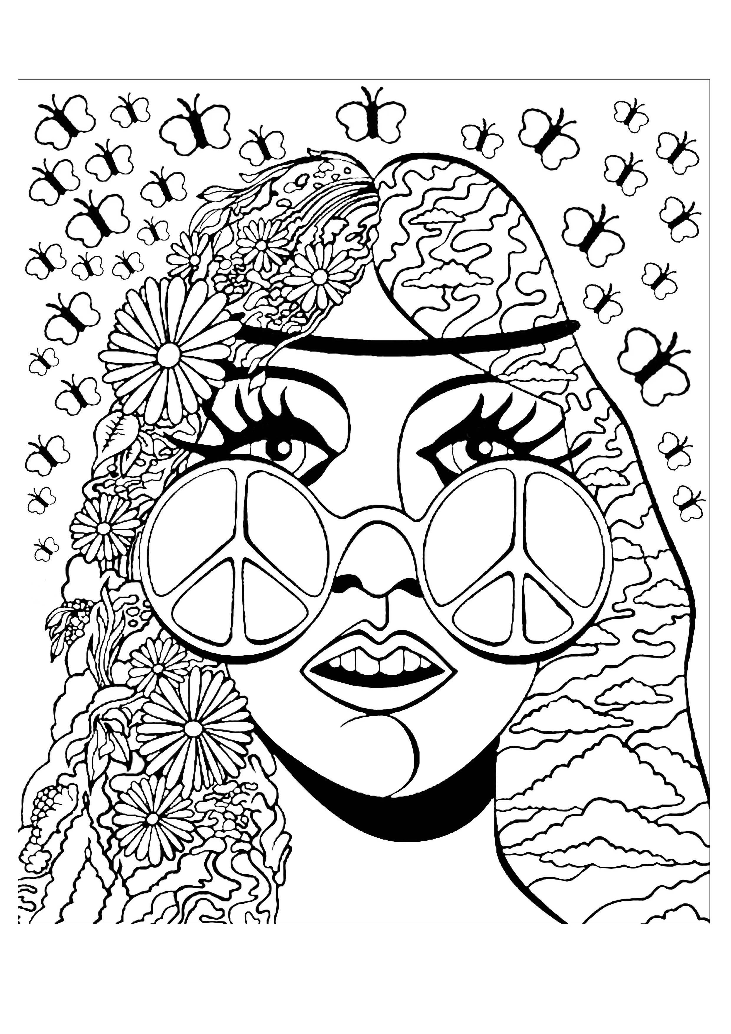 Psychedelic Girl Butterflies
