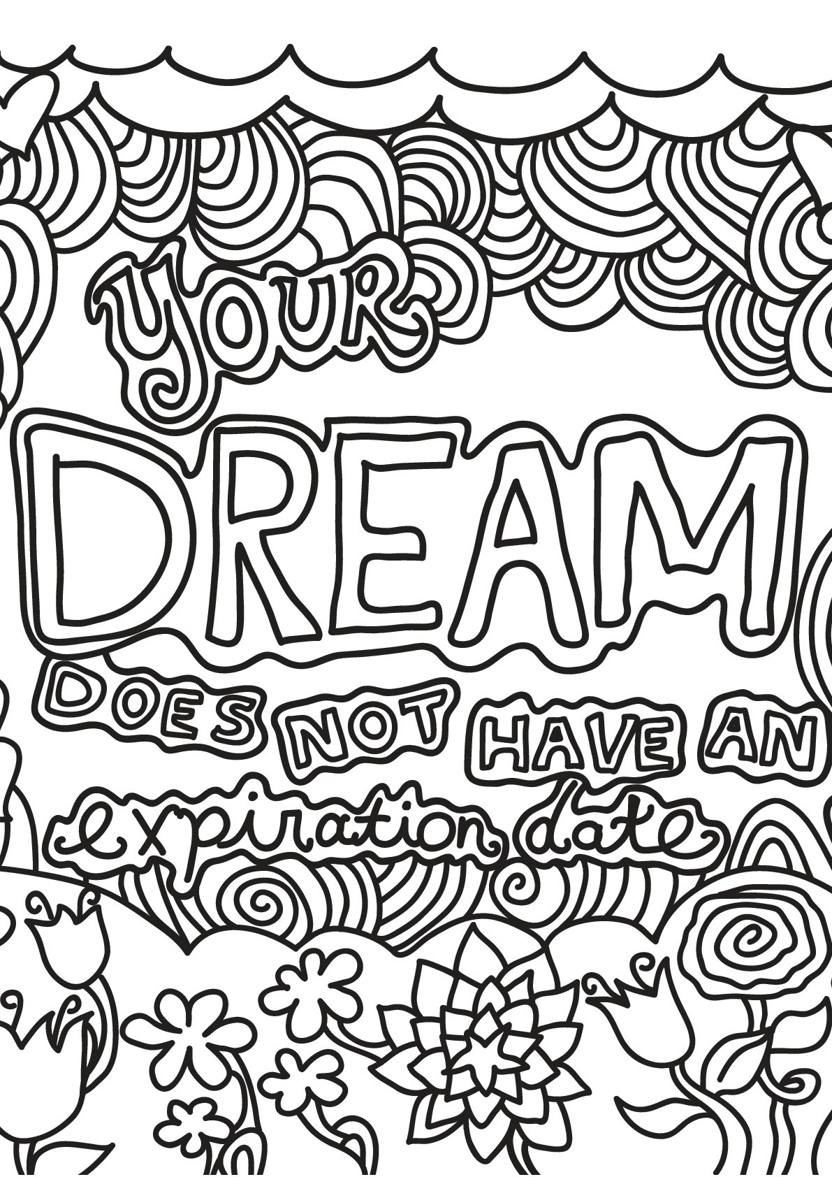 Free book quote 15 - Quotes Adult Coloring Pages   free coloring pages quotes