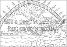Inspirational Quotes Coloring Sheets