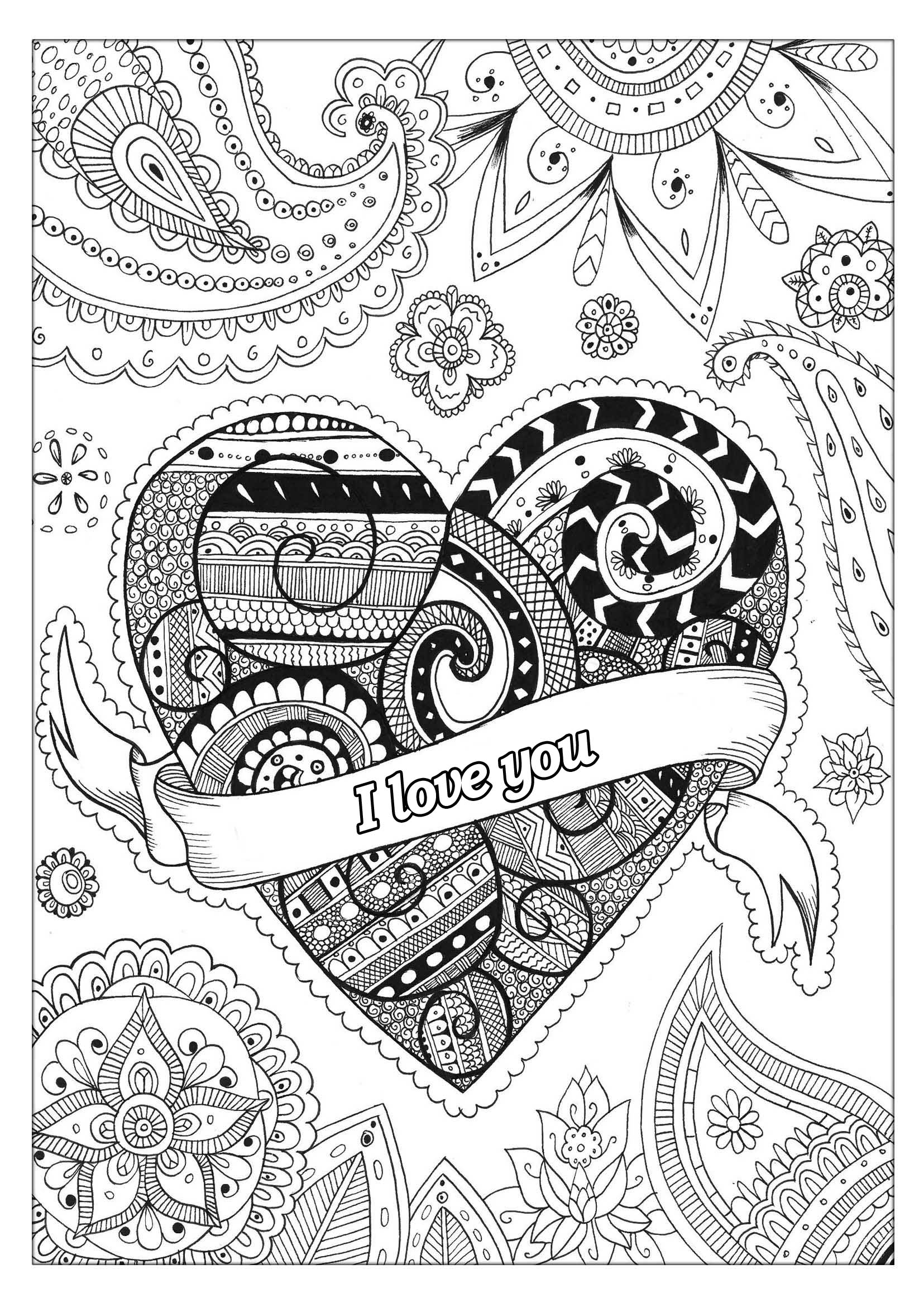 Valentine S Day 2 Valentine S Day Adult Coloring Pages
