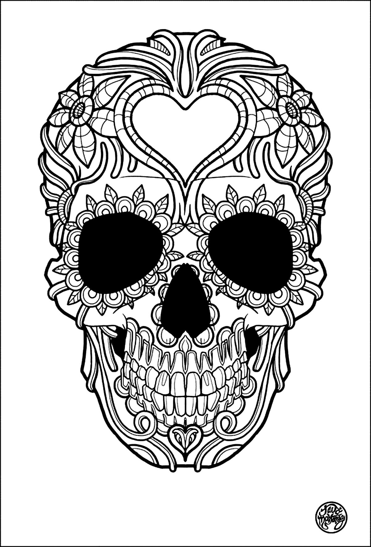Tattoo Simple Skull Tattoo Tattoos Adult Coloring Pages