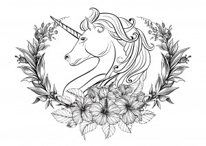 free unicorn coloring pages # 76