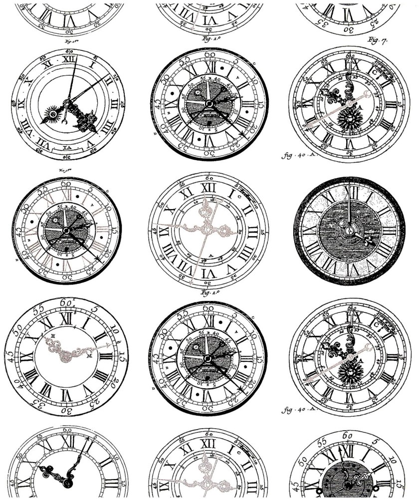 ancient watches  vintage adult coloring pages