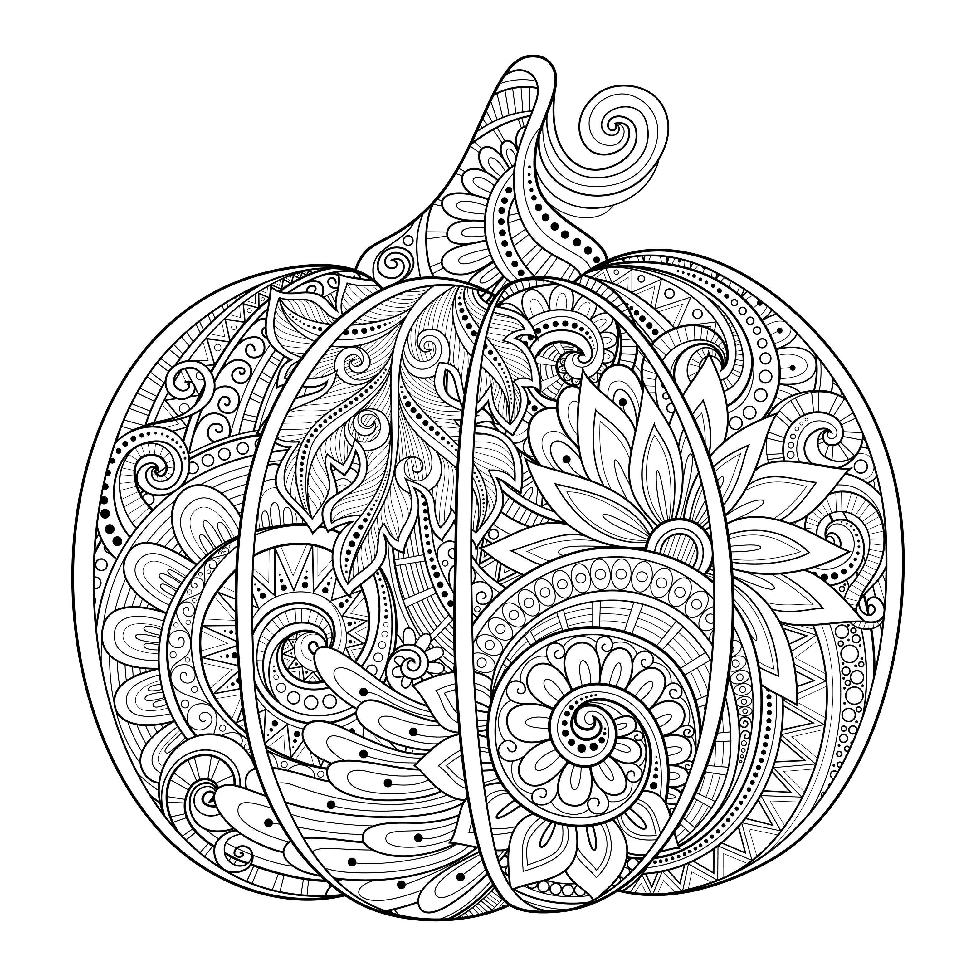 Halloween Pumpkin Zentangle Source 123rf Irinarivoruchko