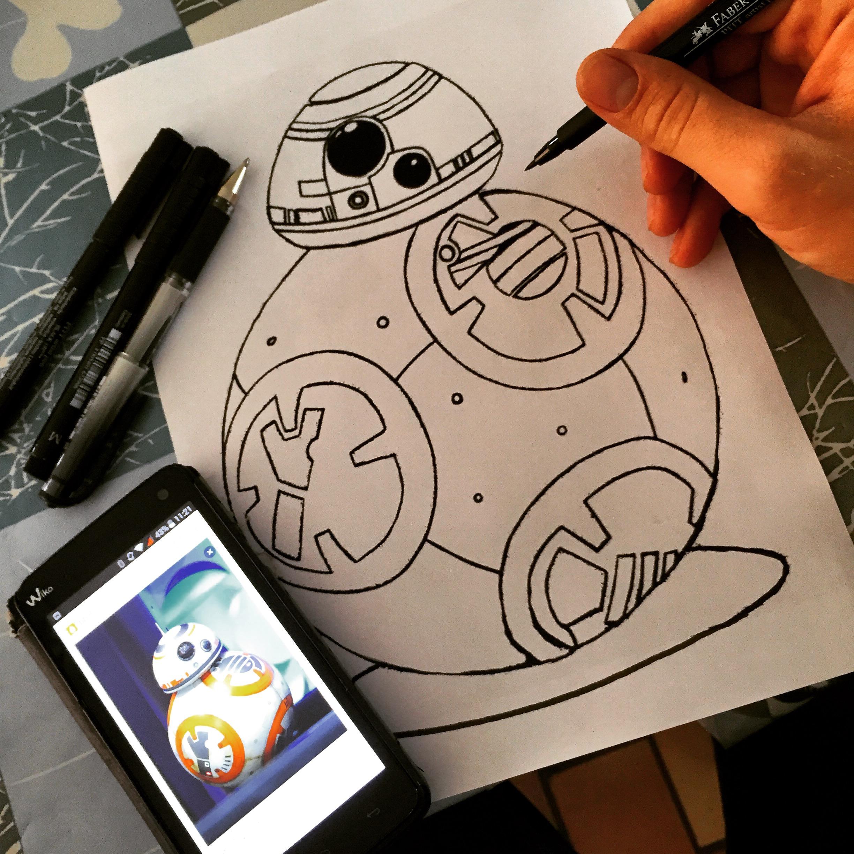Coloring new star wars robot bb8 coloring, star wars robot bb8 drawing