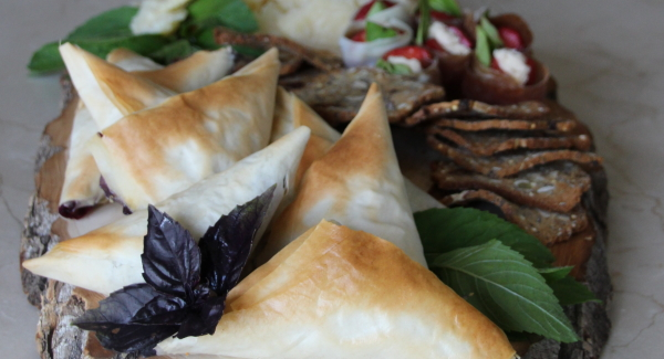 Savoury Blueberry Phyllo Hand Pies