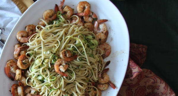 Healthified Linguini with Shrimp