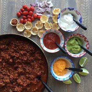 Big Batch Game Day Serve Yourself Chili Bar