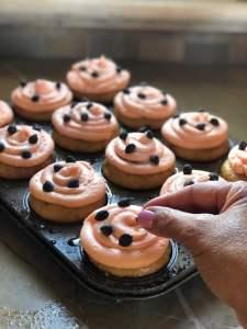 Orange Soaked Dark Chocolate Cupcakes with Orange Buttercream Frosting