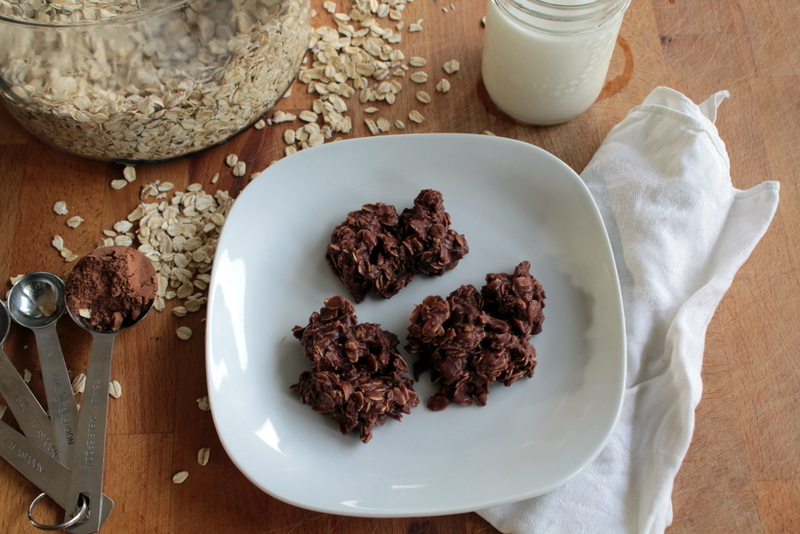 Chocolate Oat Cookies (or as my family calls them, Bear Plop cookies)