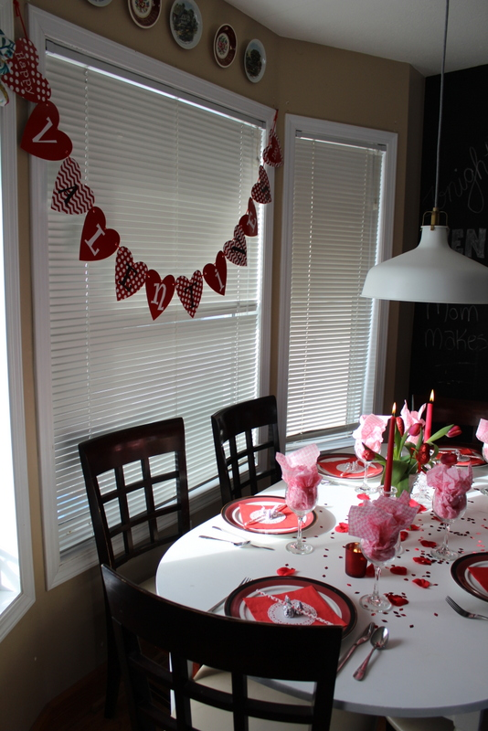A pretty, simple, inexpensive, Valentine's Day Tablescape.