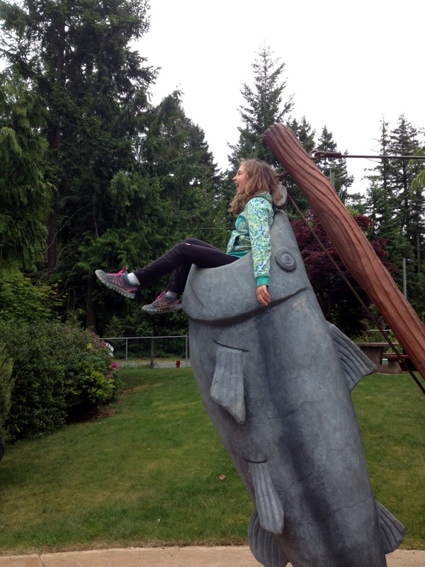 Silliness abounds when our family goes mini golfing on Vancouver Island.