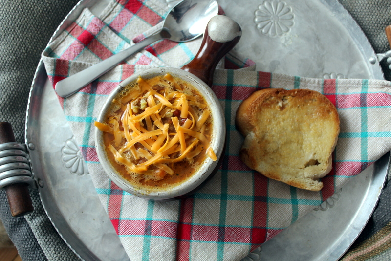 Yum! I love this nice warm chunky & nourishing Hamburger Soup in the cold days of winter.